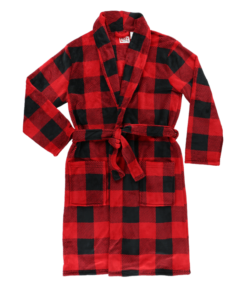 Men's Red Plaid Robe - Lazy One®